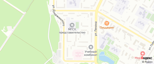 10-я улица на карте СНТ НАТП Южного с номерами домов