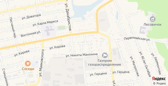 Кировский заезд в Камбарке с номерами домов на карте. Спутник и схема онлайн