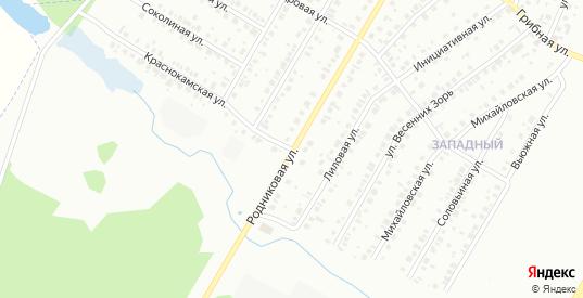 Родниковая улица в Нефтекамске с номерами домов на карте. Спутник и схема онлайн