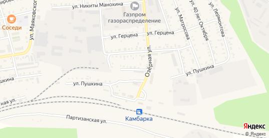 Пушкинский заезд в Камбарке с номерами домов на карте. Спутник и схема онлайн