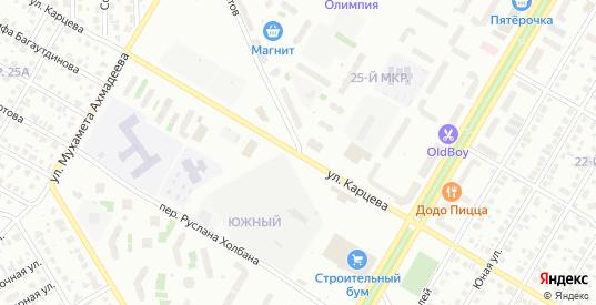 Улица Карцева в Нефтекамске с номерами домов на карте. Спутник и схема онлайн