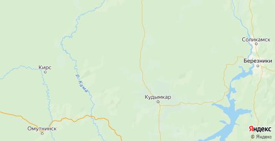 Карта Юрлинского района Пермского края с городами и населенными пунктами