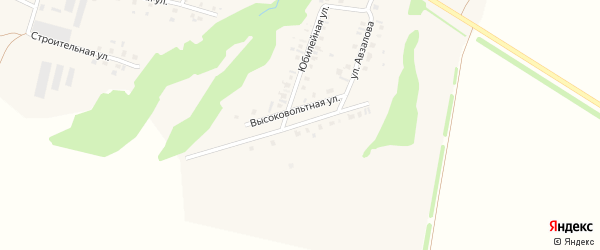 Высоковольтная улица на карте села Старокуктово с номерами домов
