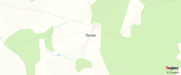 Карта деревни Урняка в Башкортостане с улицами и номерами домов