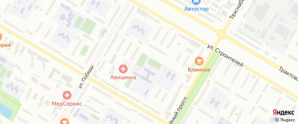 8-я улица на карте СНТ НАТП Южного с номерами домов
