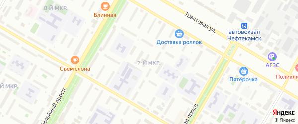 7-я улица на карте СНТ НАТП Южного с номерами домов