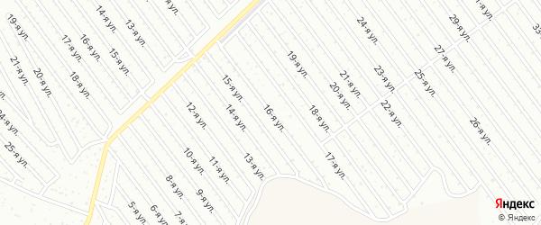 16-я улица на карте СНТ Арлана восточной стороны с номерами домов