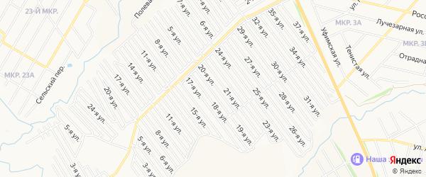 СНТ Арлан на карте Нефтекамска с номерами домов