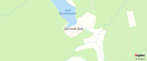 Карта поселка Детского Дома (Башенино) города Чайковского в Пермском крае с улицами и номерами домов