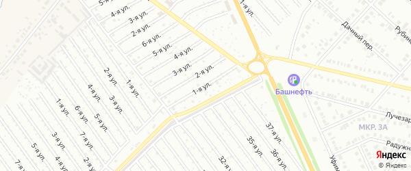 1-я улица на карте СНТ Арлана с номерами домов
