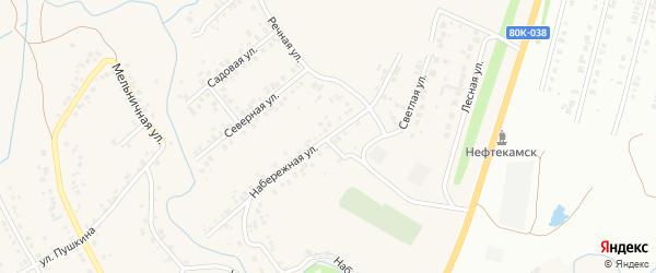 Набережная улица на карте села Ташкиново с номерами домов