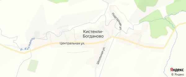 Карта села Кистенли-Богданово в Башкортостане с улицами и номерами домов