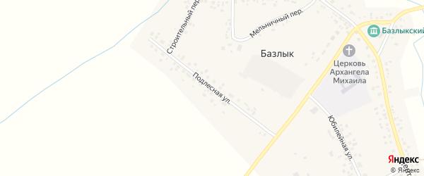 Подлесная улица на карте села Базлыка с номерами домов