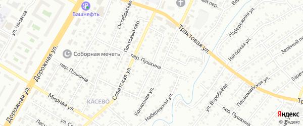 Апрельский переулок на карте Нефтекамска с номерами домов