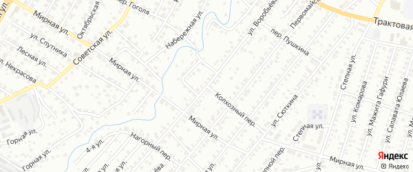 Колхозный переулок на карте Нефтекамска с номерами домов