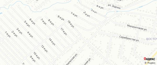 19-я улица на карте СНТ НАТП Южного с номерами домов