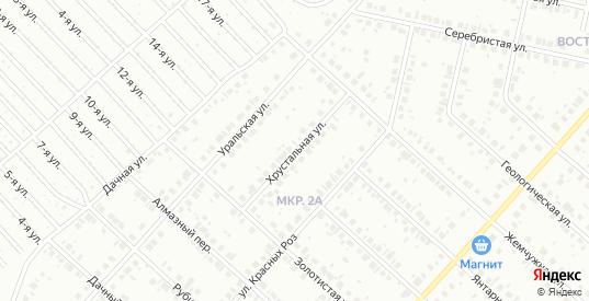 Хрустальная улица в Нефтекамске с номерами домов на карте. Спутник и схема онлайн