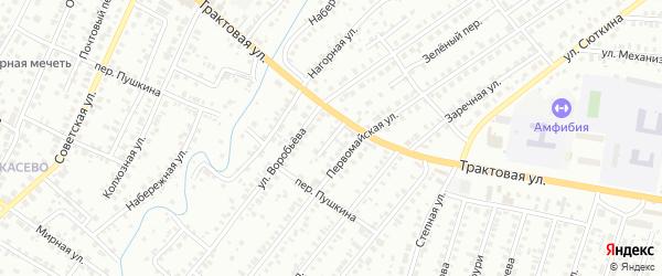 Первомайский переулок на карте Нефтекамска с номерами домов