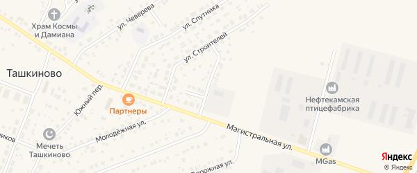 Магистральный переулок на карте села Ташкиново с номерами домов