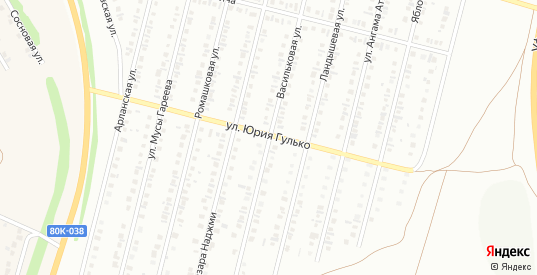 Васильковая улица в Нефтекамске с номерами домов на карте. Спутник и схема онлайн