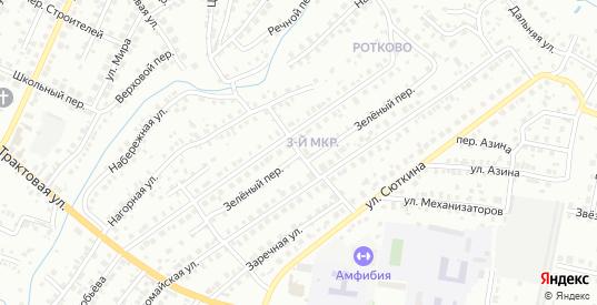 Зеленый переулок в Нефтекамске с номерами домов на карте. Спутник и схема онлайн