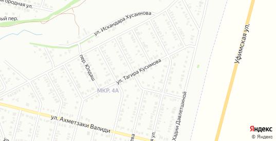 Улица Тагира Кусимова в Нефтекамске с номерами домов на карте. Спутник и схема онлайн