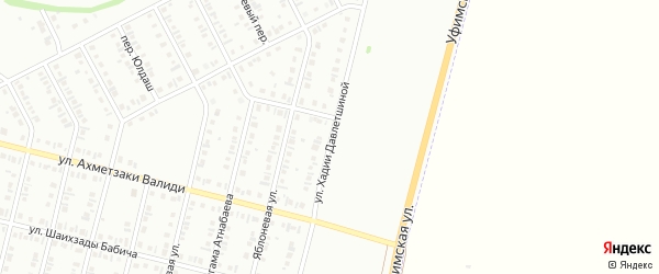 Улица Хадии Давлетшиной на карте Нефтекамска с номерами домов