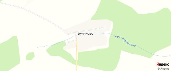 Карта деревни Буляково в Башкортостане с улицами и номерами домов