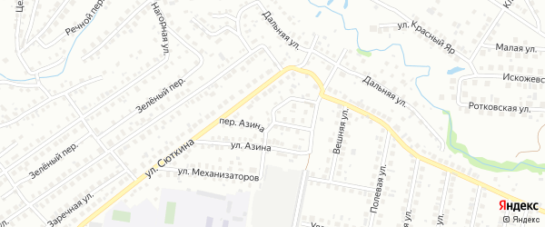 Переулок Азина на карте Нефтекамска с номерами домов