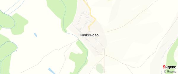 Карта деревни Качкиново в Башкортостане с улицами и номерами домов