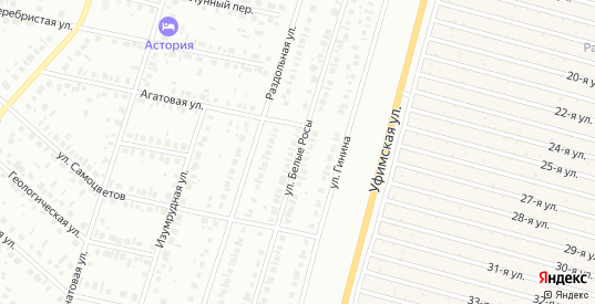 Улица Белые росы в Нефтекамске с номерами домов на карте. Спутник и схема онлайн