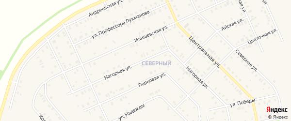 Нагорная улица на карте села Нижнеяркеево с номерами домов