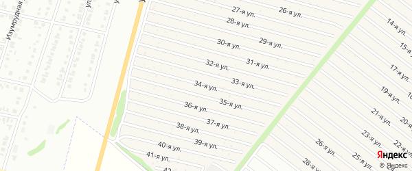 34-я улица на карте СНТ Радуга-1 с номерами домов