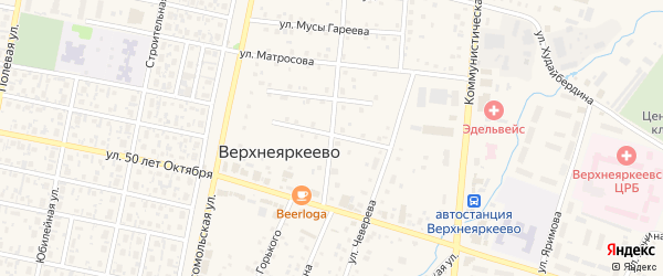 Улица Ломоносова на карте села Верхнеяркеево с номерами домов