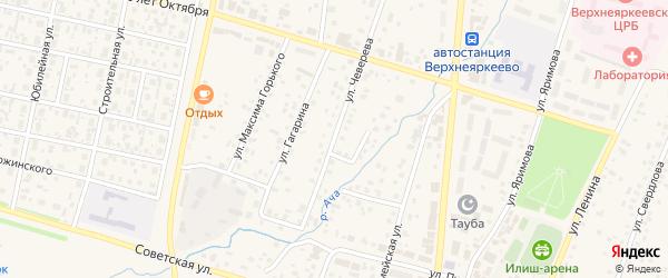 Улица Чеверева на карте села Верхнеяркеево с номерами домов