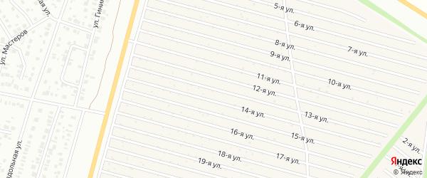 13-я улица на карте СНТ Радуга-1 с номерами домов