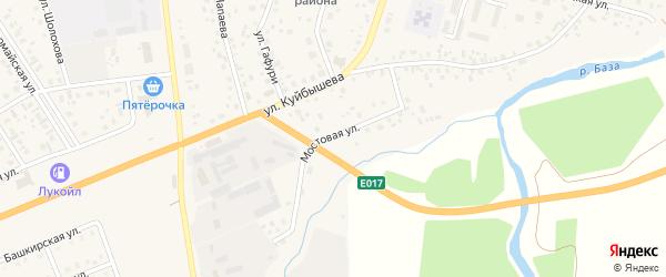 Мостовая улица на карте села Верхнеяркеево с номерами домов