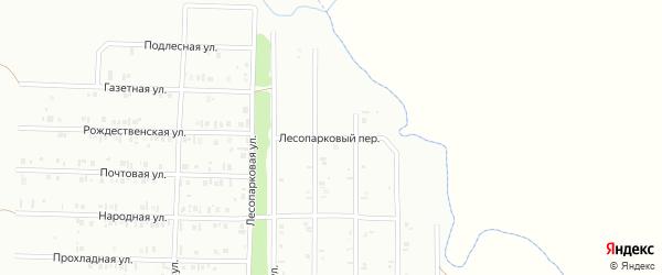 22-я улица на карте Буровика с номерами домов