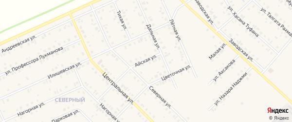 Айская улица на карте села Нижнеяркеево с номерами домов