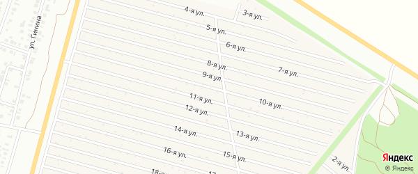 10-я улица на карте СНТ Радуга-1 с номерами домов
