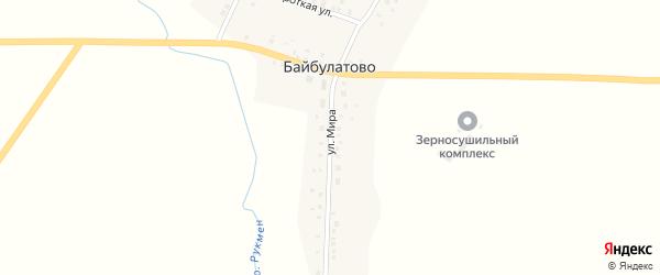 Улица Мира на карте села Байбулатово с номерами домов