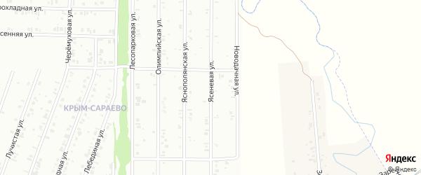 20-я улица на карте СНТ Арлана с номерами домов