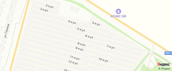 6-я улица на карте СНТ Радуга-1 с номерами домов