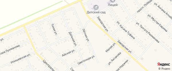 Летная улица на карте села Нижнеяркеево с номерами домов