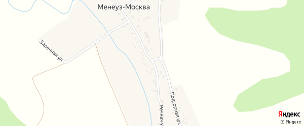 Центральная улица на карте села Менеуза-Москвы с номерами домов