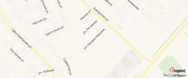 Улица Н.Наджми на карте села Нижнеяркеево с номерами домов