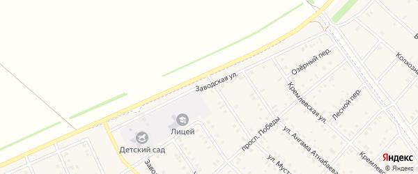 Заводская улица на карте села Нижнеяркеево с номерами домов