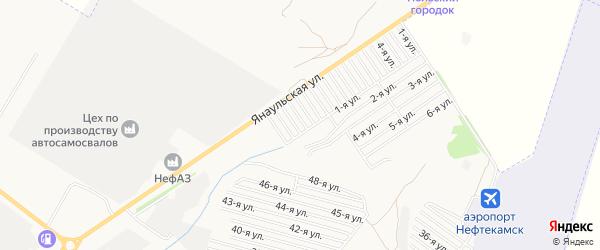 СНТ Буровик на карте Нефтекамска с номерами домов