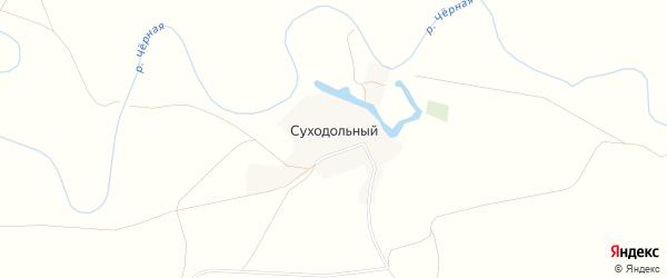 Карта Суходольного поселка в Оренбургской области с улицами и номерами домов