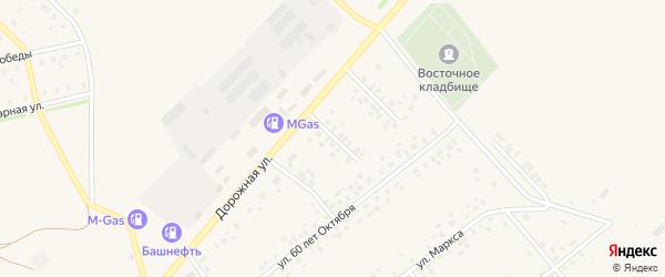 Российская улица на карте села Нижнеяркеево с номерами домов
